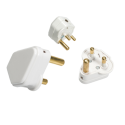 15A Plug Top Whi 3 Round Pins