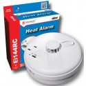 Heat Alarm Optical Interconnectable Mains 9v Battery Backup