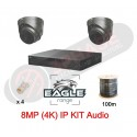 4 Channel POE 2TB | 2 Camera IP Kit | 8MP Grey