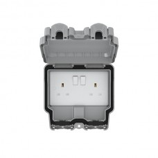IP66 2G 13A DP Switched Socket Grey