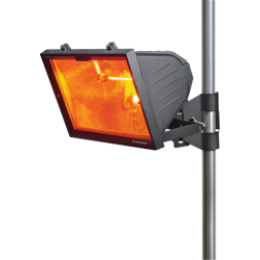 1300 Watt Patio Infrared Heater Black Including Pole Bracket