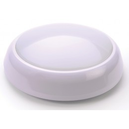 IP65 15W LED Microwave Sensor Decorative Round Bulkhead White Bezel 1200lm 4000K