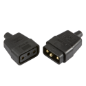 10A 3 Pin Cable Connector Black