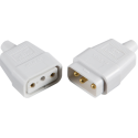 10A 3 Pin Cable Connector White