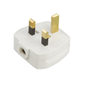 13 Amp Rubber Plug Top White