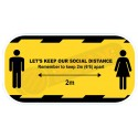 Social Distance Anti-Slip Floor Sticker 300mm