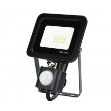 IP65 10W PIR LED FLOOD 6000K 800LM