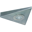 Cabinet Downlight 12V Triangle B/Chrome Including Lamp & 1M C