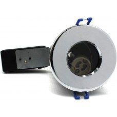 IP65 Fire-Rated GU10 Downlight Die Cast Polished Chrome