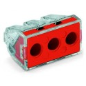 3 Wire Push Connector 6mm Red